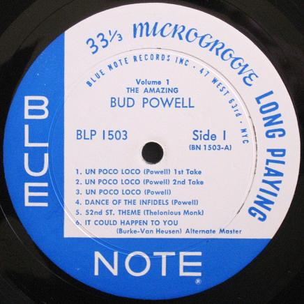 Bud Powell Blue Note BLP 1503 47 West 63rd NYC