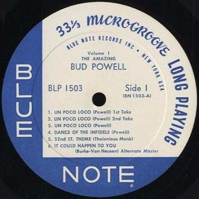Bud Powell Blue Note BLP 1503 New York USA