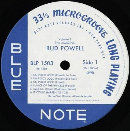 Bud Powell Blue Note BLP 1503 Toshiba EMI