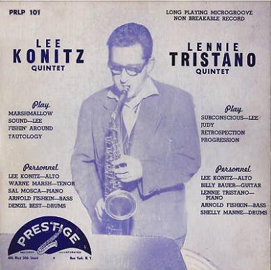 Lee Konitz Lennie Tristano Prestige PRLP 101 2nd