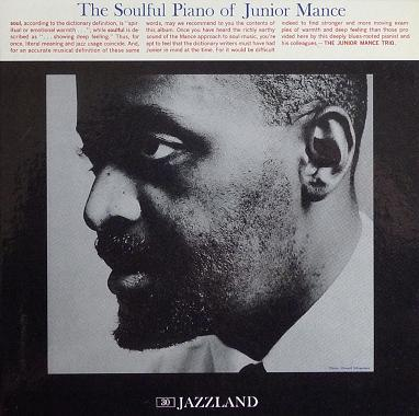 Junior Mance The Soulful Piano Of Junior Mance Jazzland JLP 30