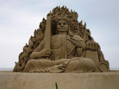 メイン砂像(不動明王)
