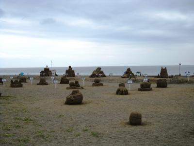 中型砂像コンテストの様子