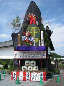 JR角館駅前 お祭り置山風景(過去の写真)1