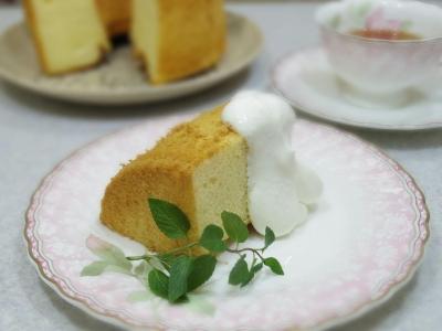 甘酒のシフォンケーキ