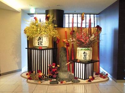 秋田キャッスルホテルさんのお正月飾り 008