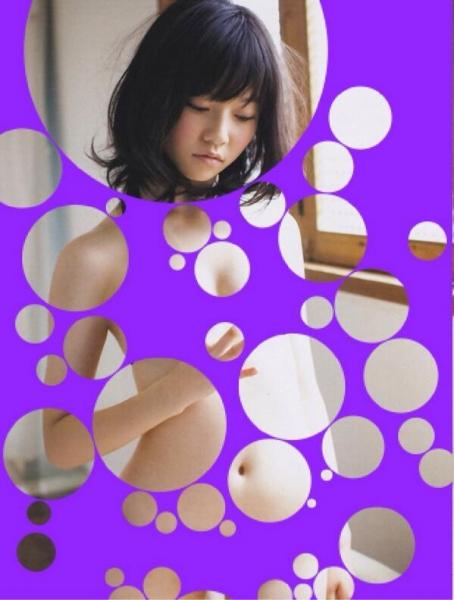 裸に見えちゃう水玉アイコラ画像13