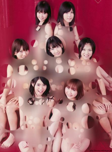 AKB48が裸に見える透明水玉透けアイコラ画像12