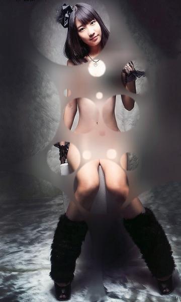 AKB48が裸に見える透明水玉透けアイコラ画像3
