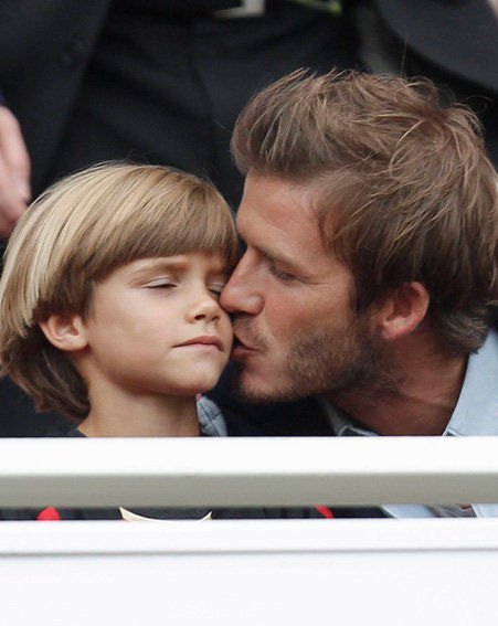 David Beckham and his son, Romeo