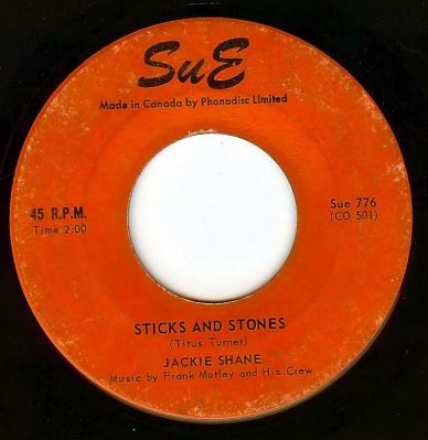 jackie shane sticks and stones