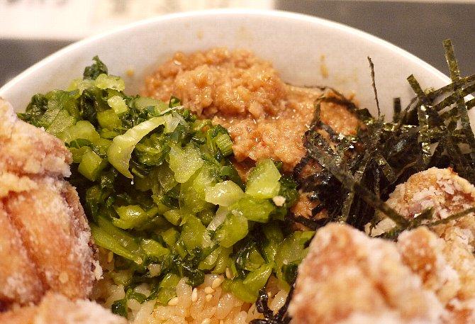 野沢菜と肉味噌