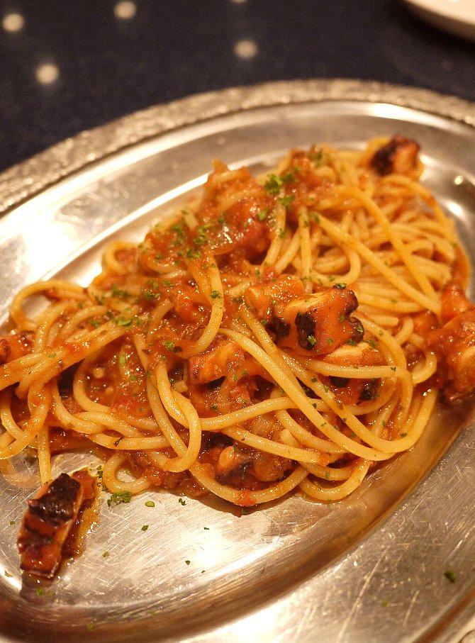 蛸のトマトスパゲッティ
