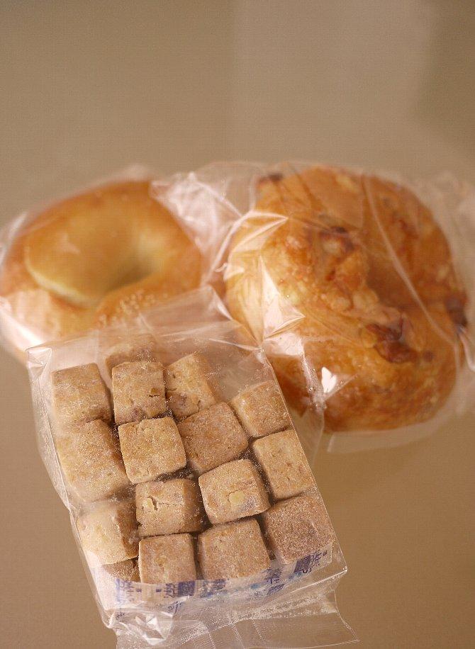 ベーグルとお菓子