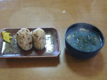 岩ノリの昼食