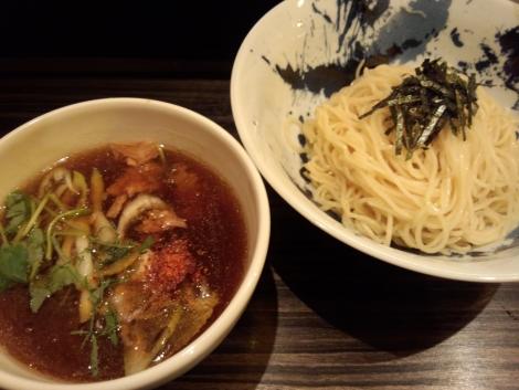 鯵ニボ醤油つけ麺