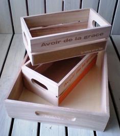 100均の木製箱3点