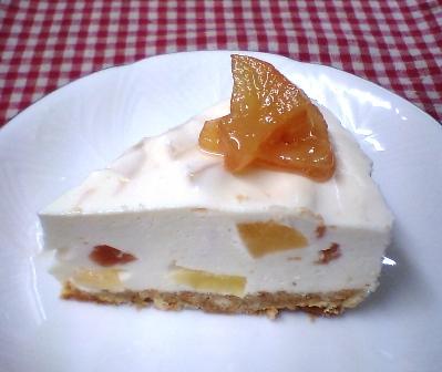 りんごのレアチーズケーキ♪
