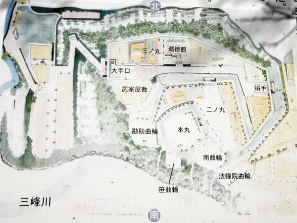 高遠城地図