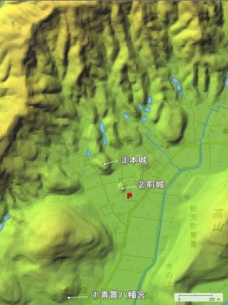 青景城地形図