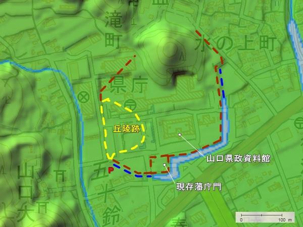 山口城地形図