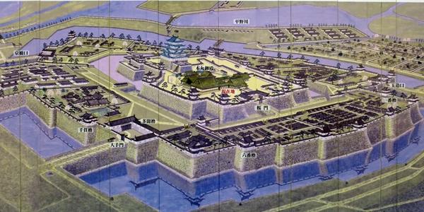 大阪城復元図_徳川期