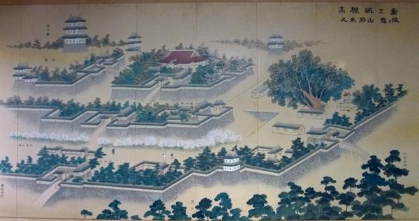 高槻城古絵図