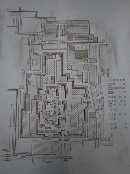 高槻城比定図