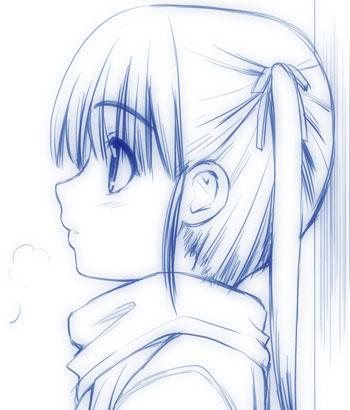 横顔少女01b