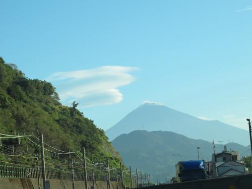 富士山とつるし雲