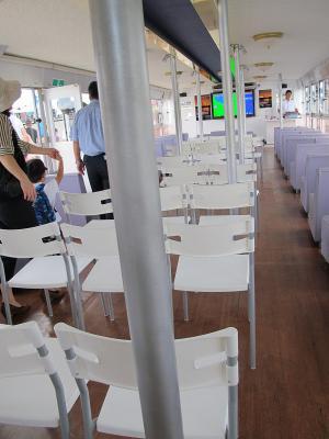 横須賀軍港めぐり リサイクルの椅子