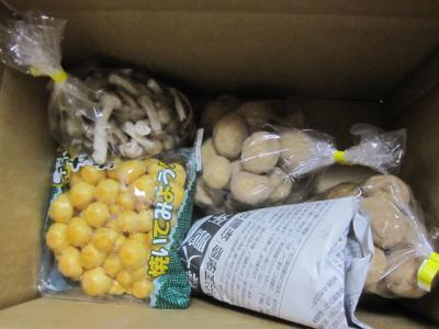 遠山郷で買った、野菜