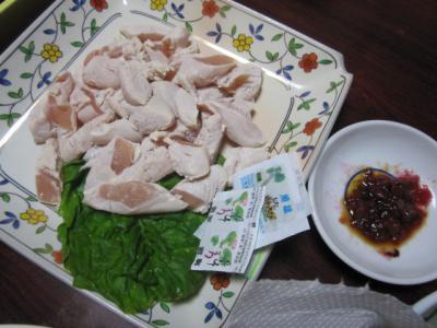 鶏ささみのタタキ