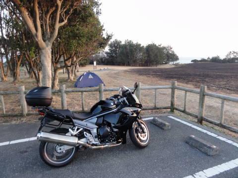 潮岬望桜の芝生キャンプ場にて