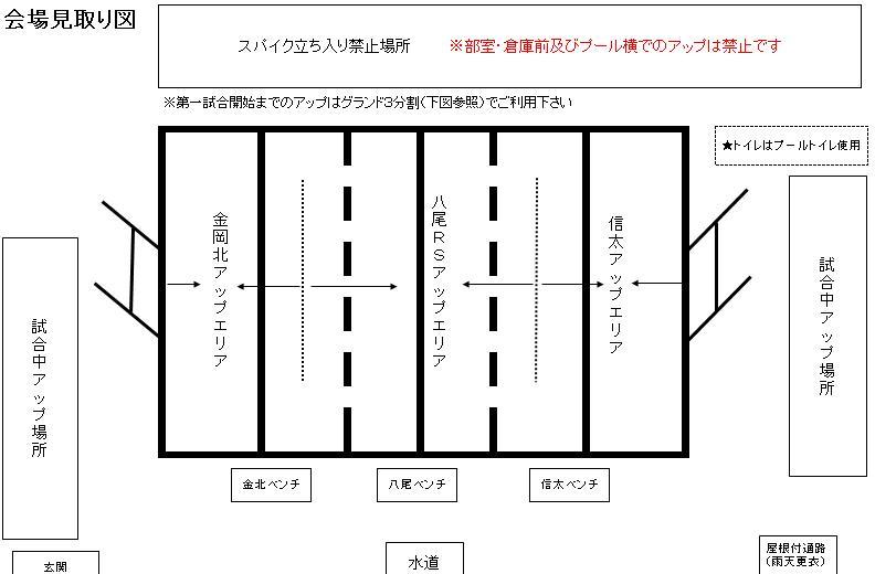 8/3(土)練習試合 グランド