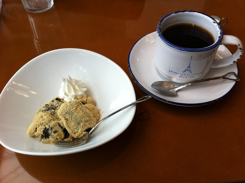 黒糖わらび餅&ブレンドコーヒー
