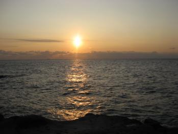千畳敷の夕日2