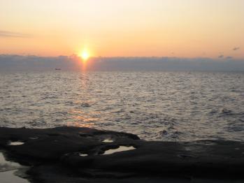 千畳敷の夕日1