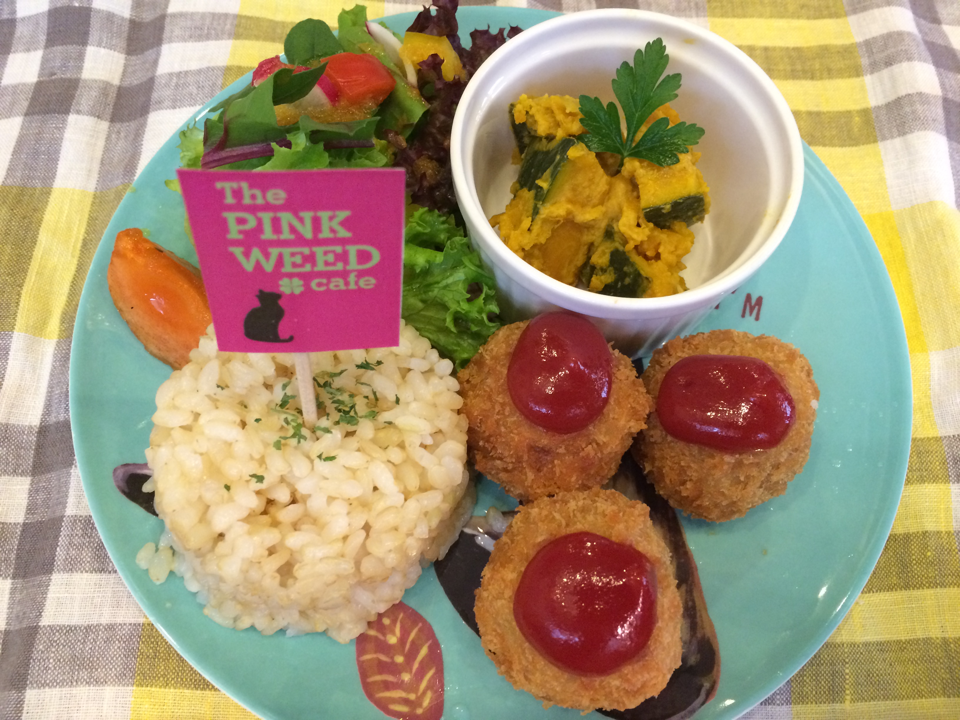The PINK WEED キッズプレートJPG