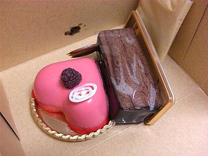 ボンジュール ケーキの無残な姿