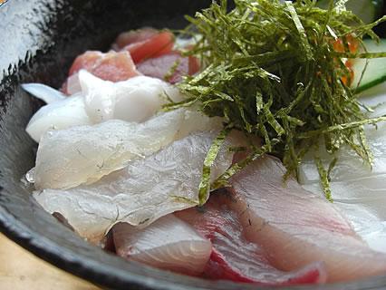 食事処 地魚屋 たきわ 地魚丼 アップ