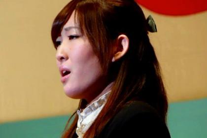野々村彩乃さんによる国歌独唱