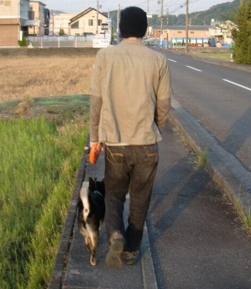 兄ちゃんとお散歩クロスケ