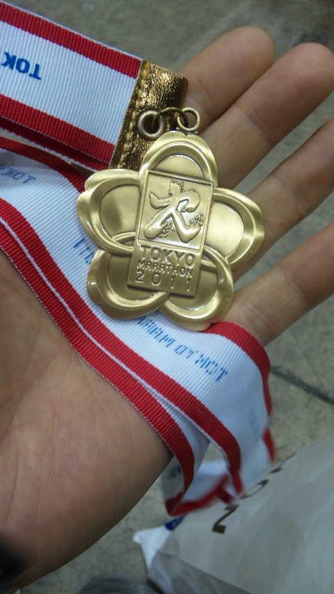 東京マラソン2011完走メダル