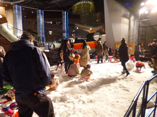 雪遊び場も現るです