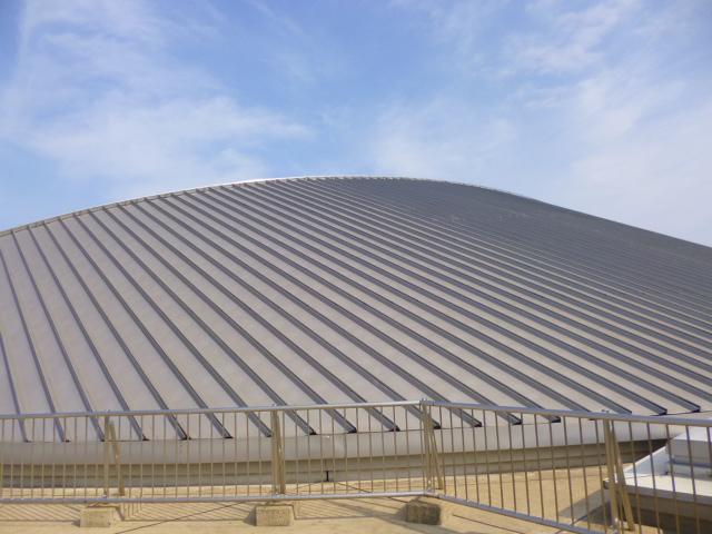 ドーム状の大屋根です