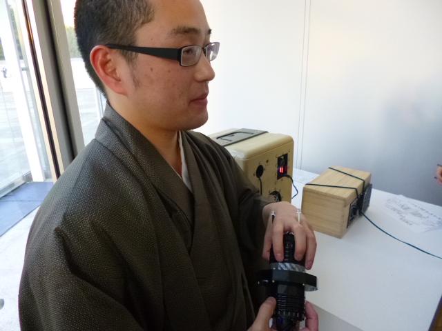 制作者の宇田さん UDARについて説明中です
