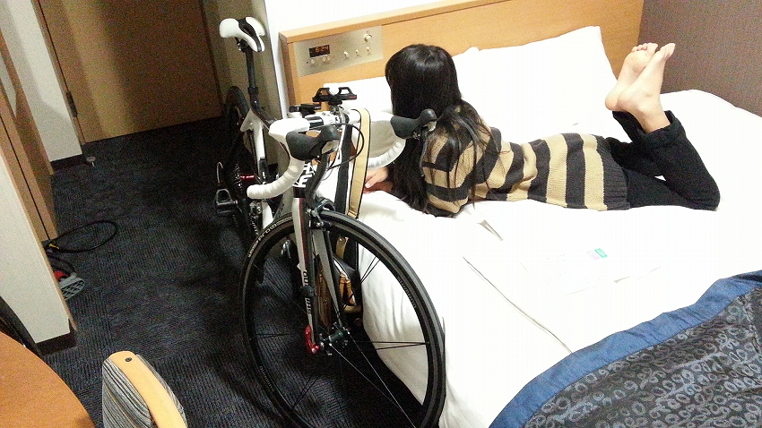 自転車と部屋
