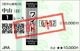 2011年2月27日(日)中山1R的中馬券