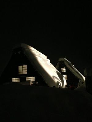 昨晩26日(土)白川郷ライトアップ